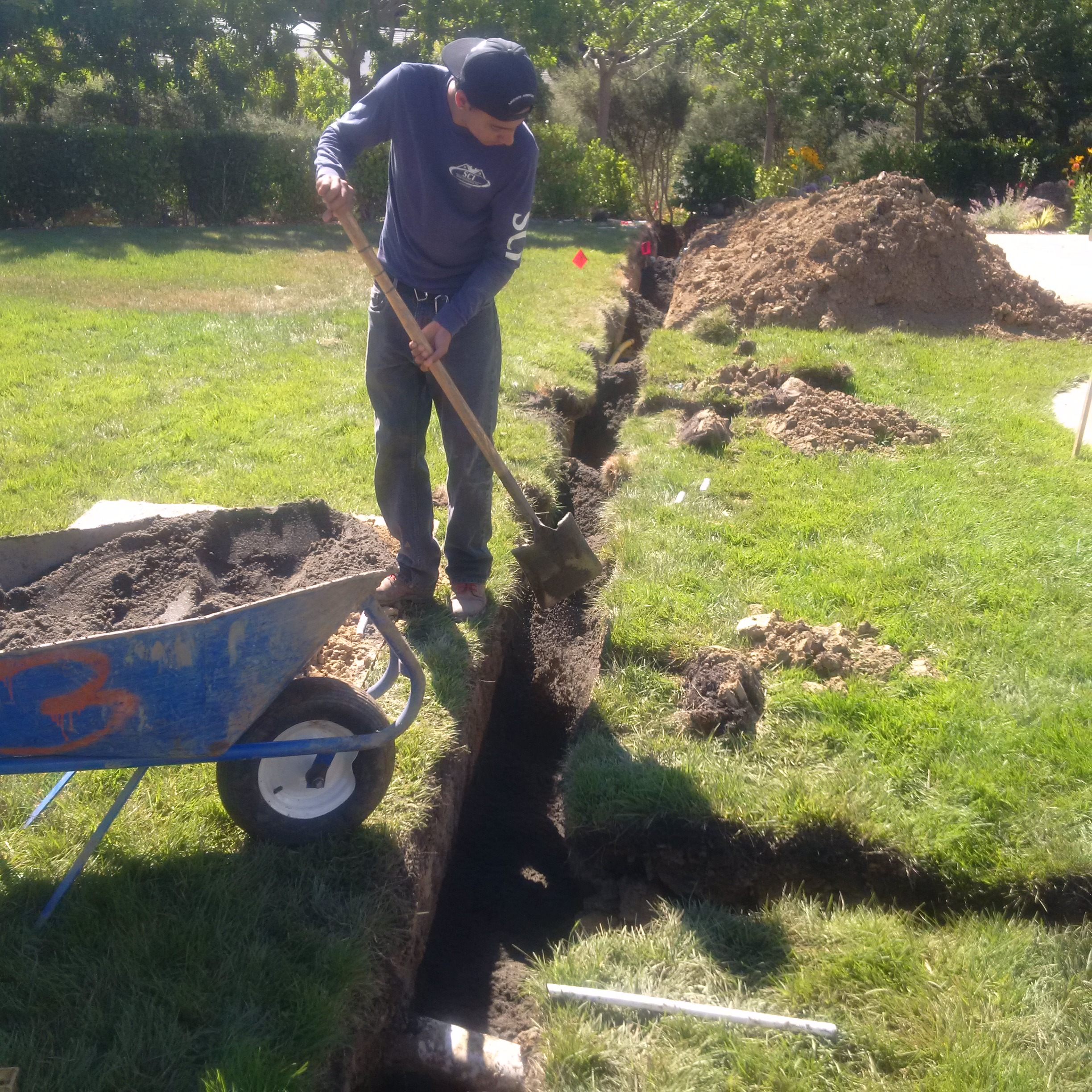 100 how to build french drain how to install a dry creek be